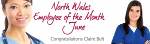 North Wales Employee of the Month Claire Bult
